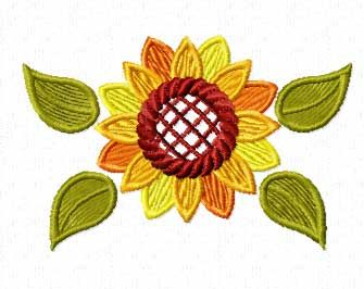 Sunflower Machine Embroidery Design