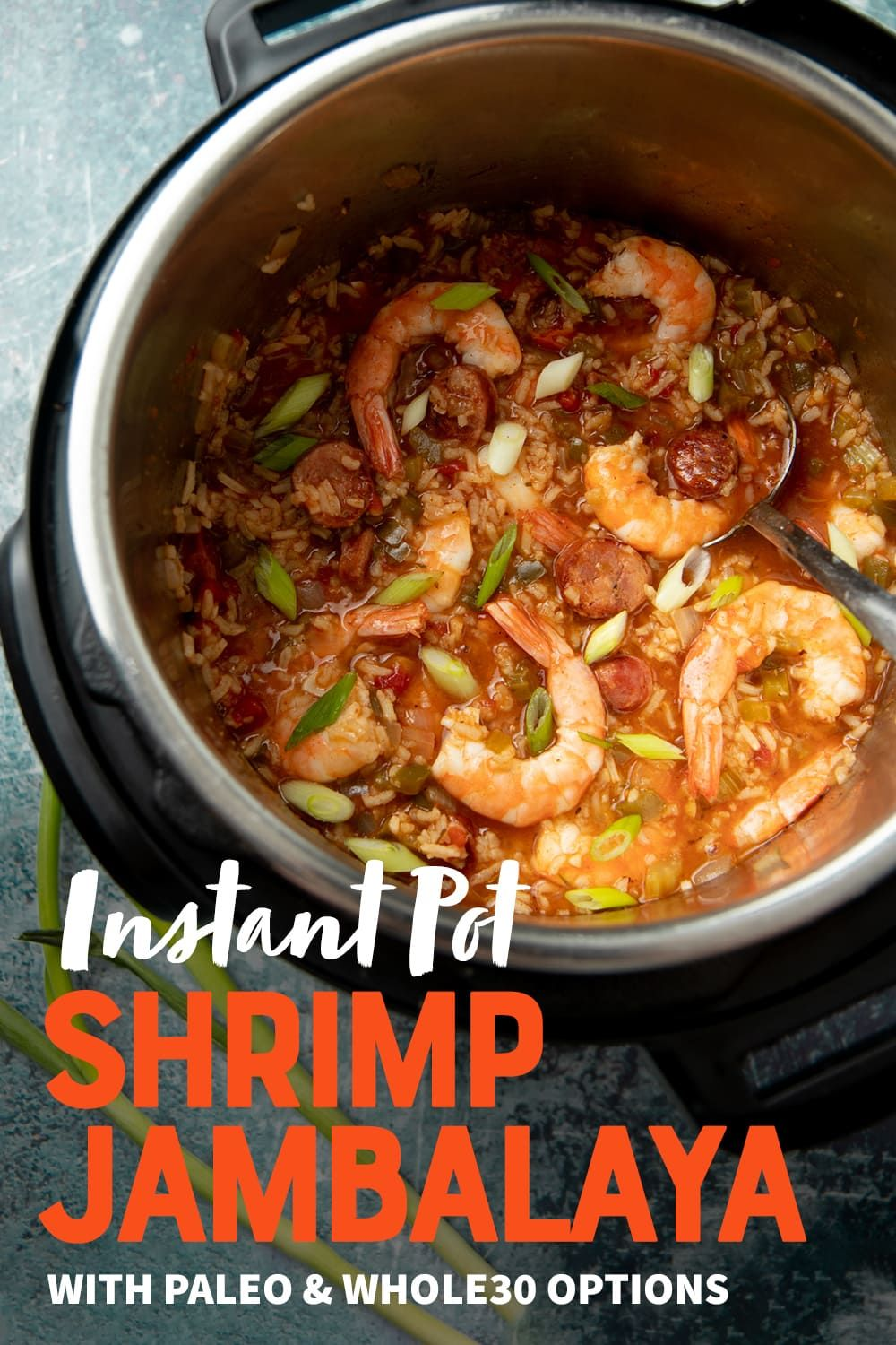 Instant Pot Shrimp Jambalaya (with Paleo & Whole30 option) | Wholefully