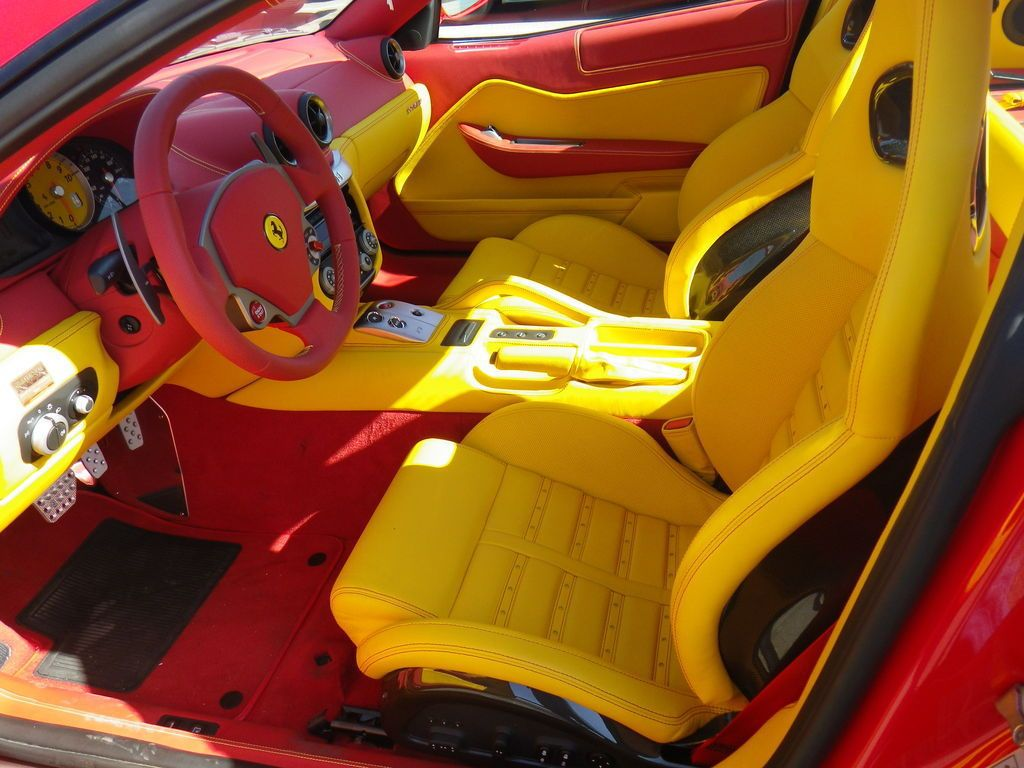 ferrari 599 red yellow and black interior 2 auto addiction interiors pinterest ferrari. Black Bedroom Furniture Sets. Home Design Ideas