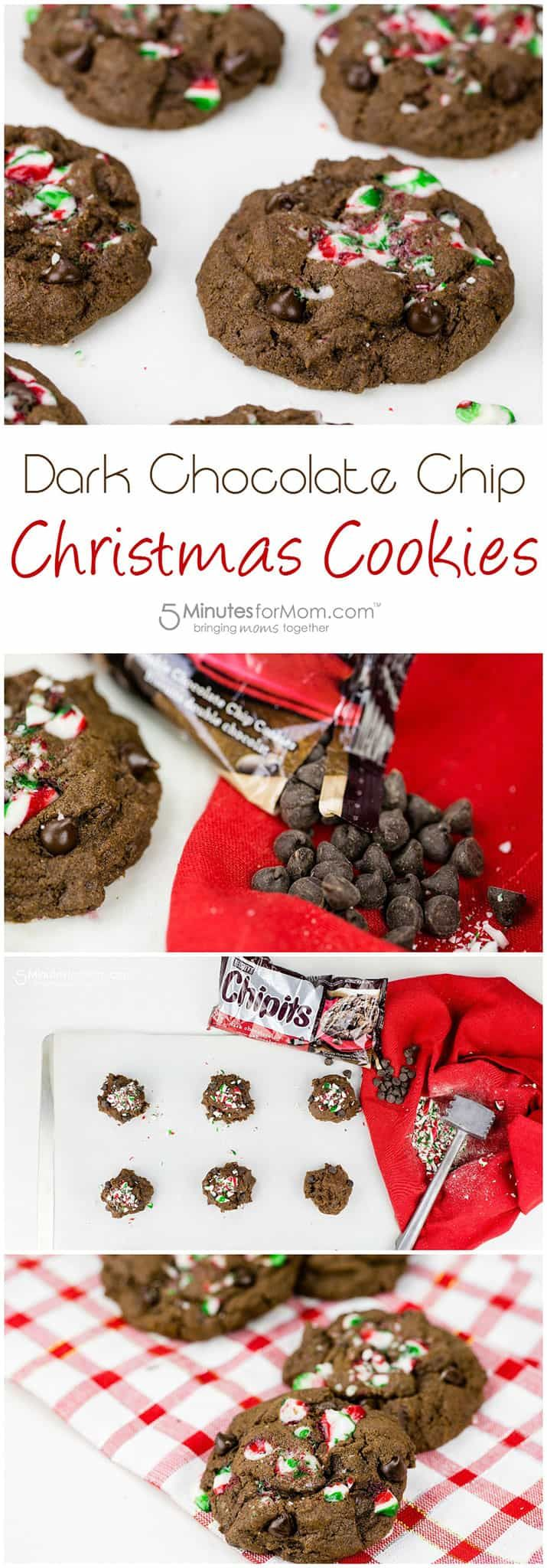 Dark Chocolate Chip Christmas Cookies - 5 Minutes for Mom