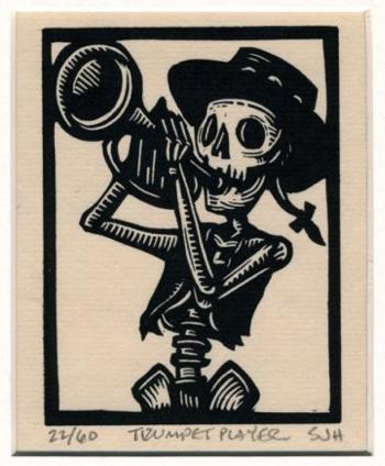 Trumpet Trumpet Tattoo Day Of The Dead Art Trumpet