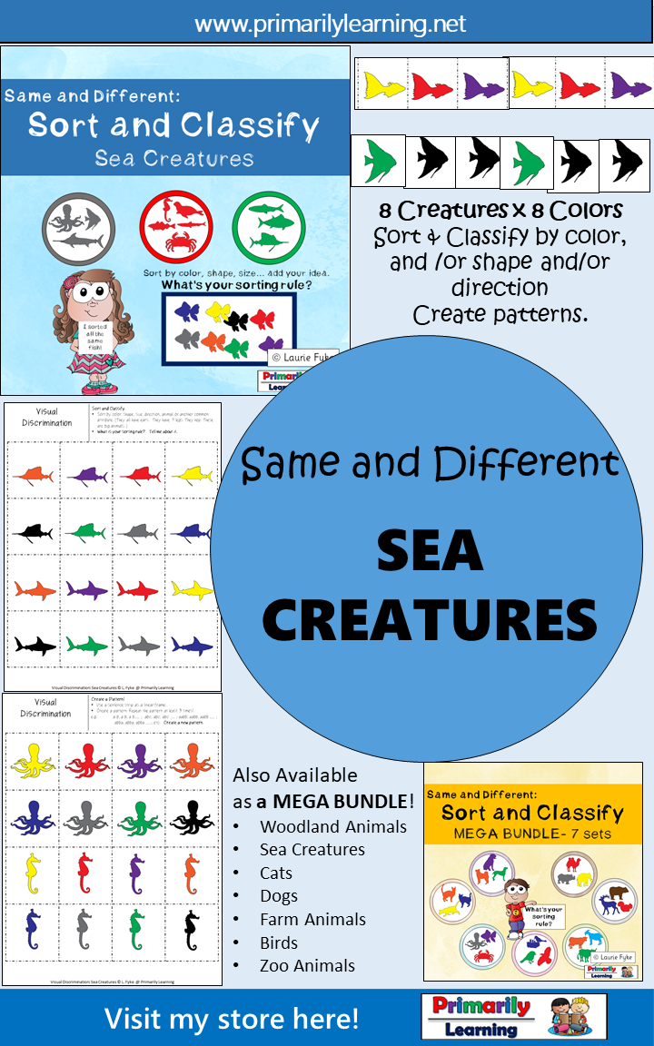 Same and Different: Sort and Classify Sea Creatures | Pinterest ...