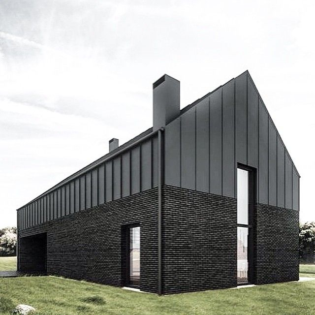 Steel Brick Black Barn Exteriordesign Architecture Barn Blackbarn Dreamhome Theoutdoorstylist Modern Barn House Architecture Architecture Design