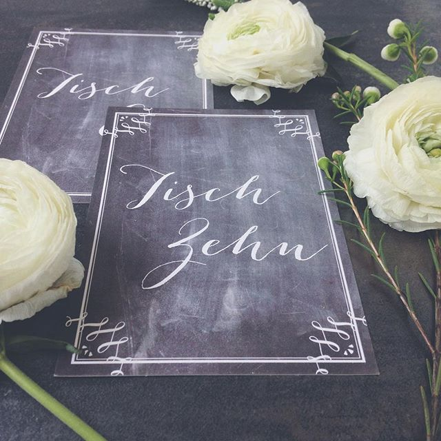 Unsere Tischnummern Chalkboard Heaven Hochzeit Wedding