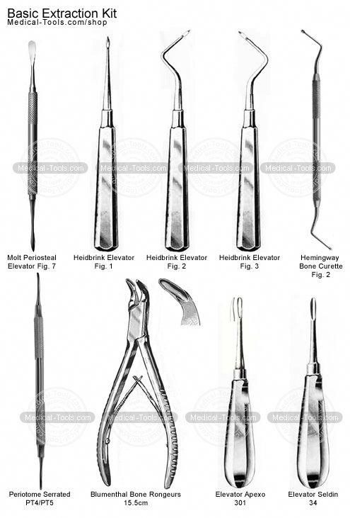 Image result for dental extraction tool names #