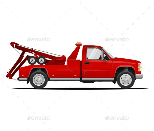Tow Truck Vector Illustration By Dickcraft High Detailed Vector