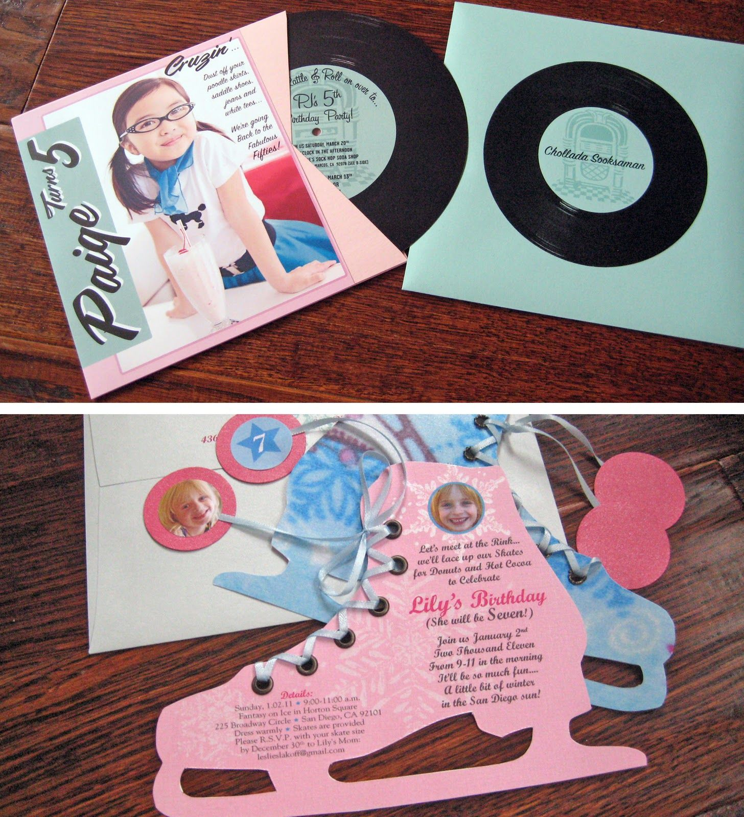 record invites | LDSYW | Pinterest | Sock hop party and Birthdays