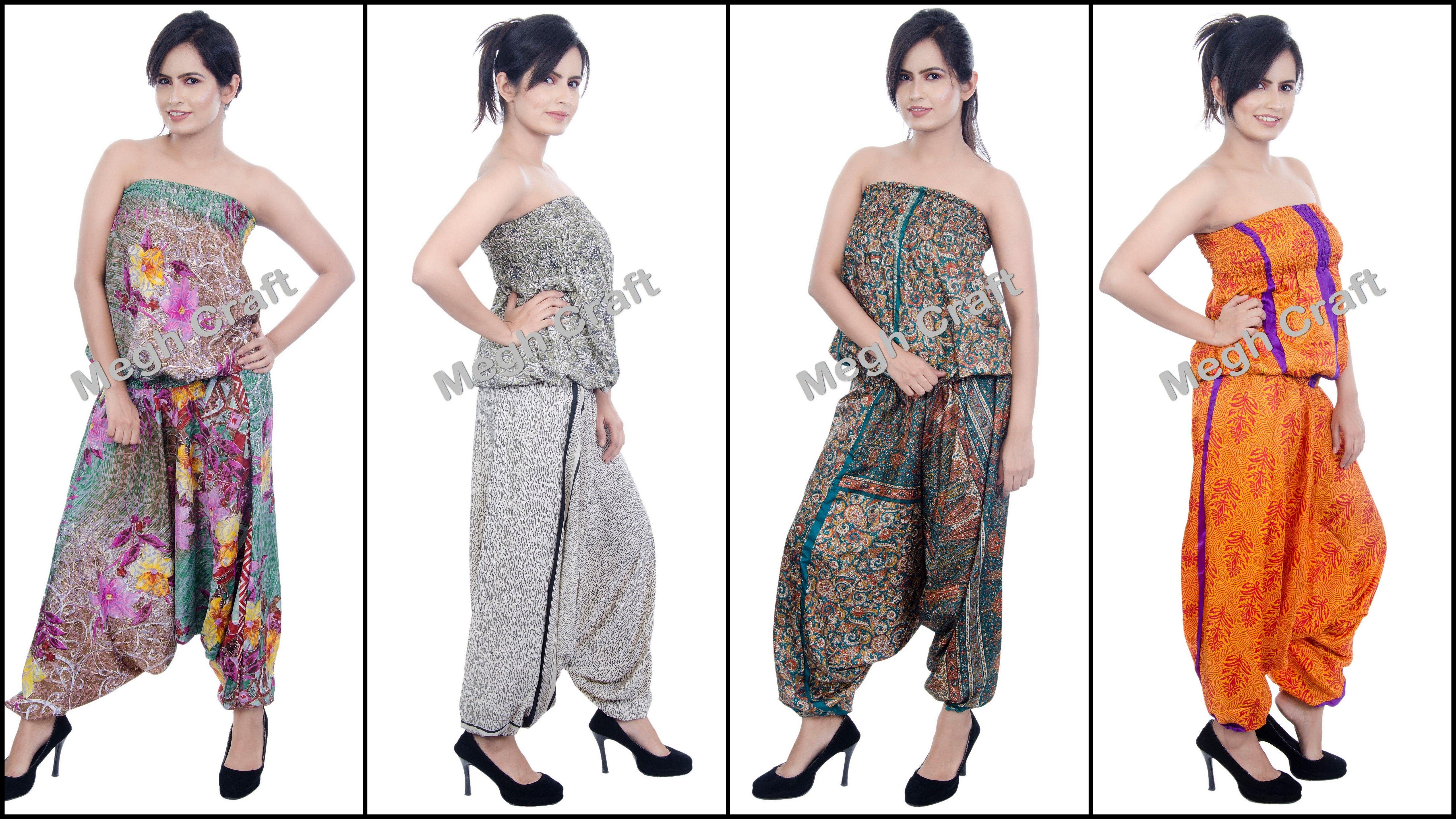 f368694c14a formal Wear jumpsuit   Fushion Wear Jumpsuits Indian Summer Silk jumpsuits  BY  CraftsOfGujarat  craftnfashion  meghcraft  indianethnicjewelry