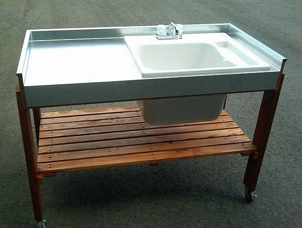 This Outdoor Garden Sink Is A Simple Project To Make With Several Variations Depending On The Size Of The Sink Yo Garden Sink Outdoor Garden Sink Outdoor Sinks