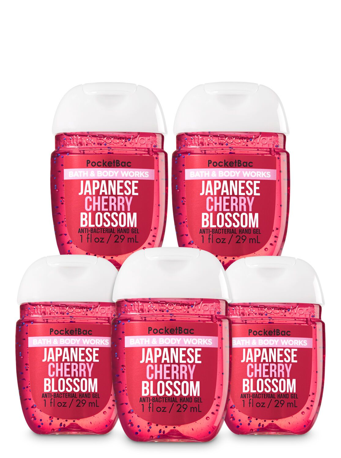 Japanese Cherry Blossom Pocketbac Hand Sanitizer 5 Pack Hand