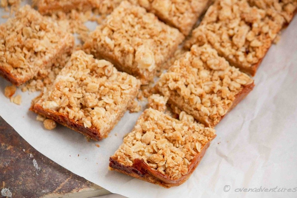 Crumbly Caramel Oat Bars Recipe How Sweet Eats Oat Bars Dessert Recipes