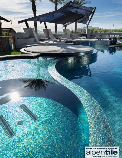 Alpentile Glass Tile Swimming Pools | Cool pools, Swimming ...
