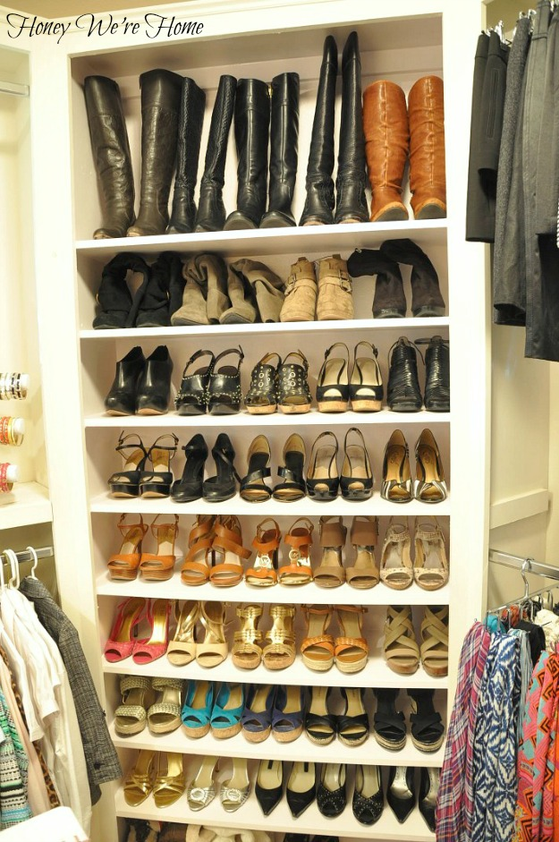 oh wow this is an amazing way to organize shoes in your. Black Bedroom Furniture Sets. Home Design Ideas