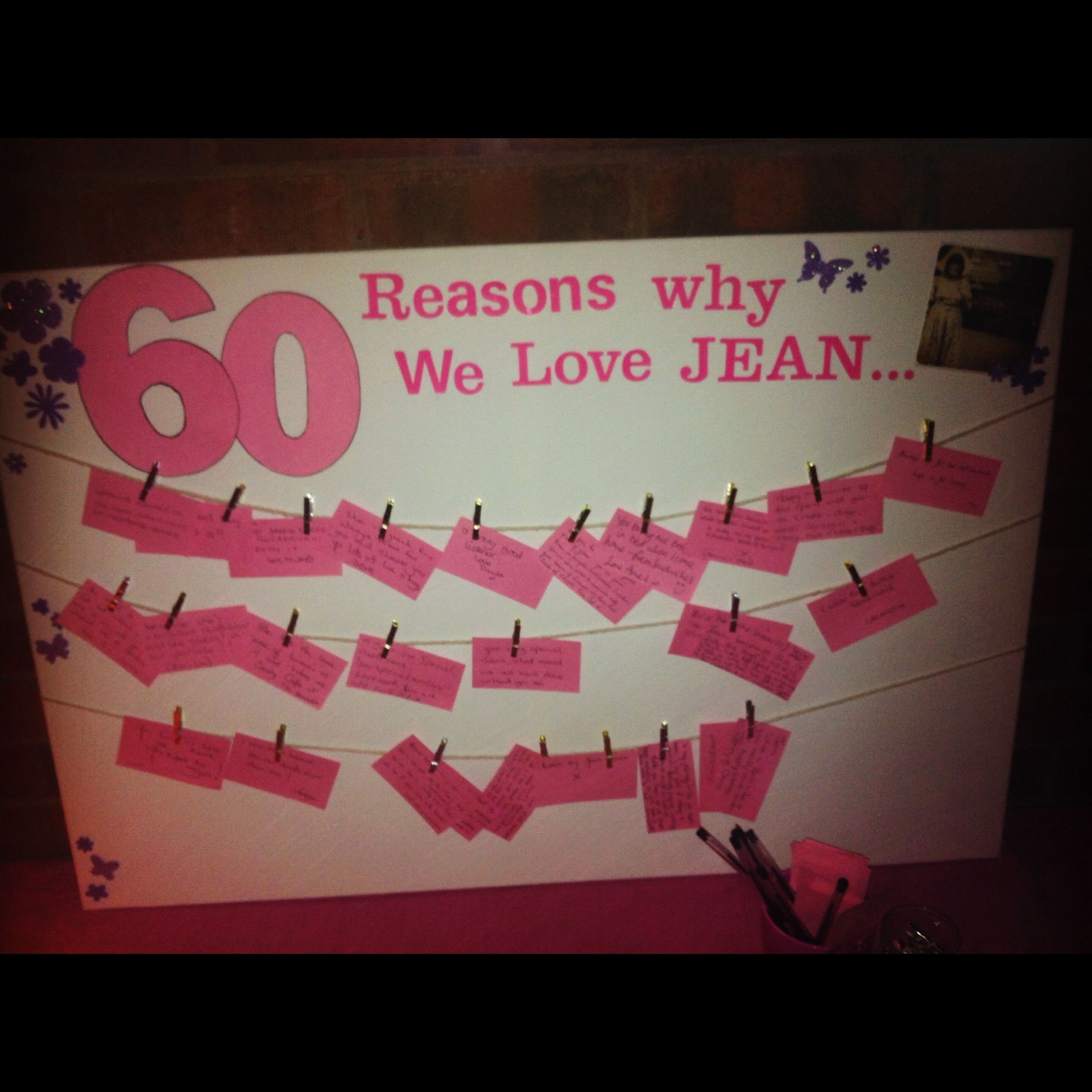 60 reasons we love party ideas 60th birthday kaartjes for 60th birthday decoration