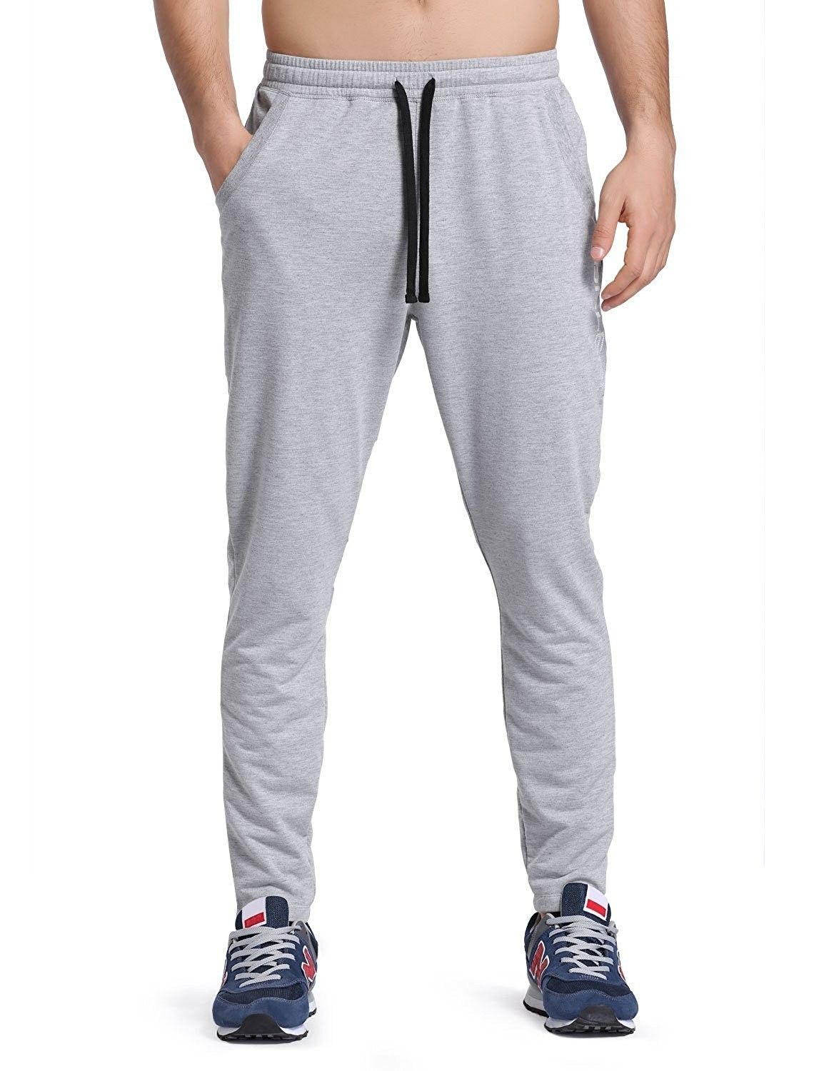 Men's Clothing, Active, Active Pants, Men's Tapered Athletic Running Pants  - Light Gray - C212NA… | Mens athletic pants, Mens workout clothes,  Weightlifting clothes