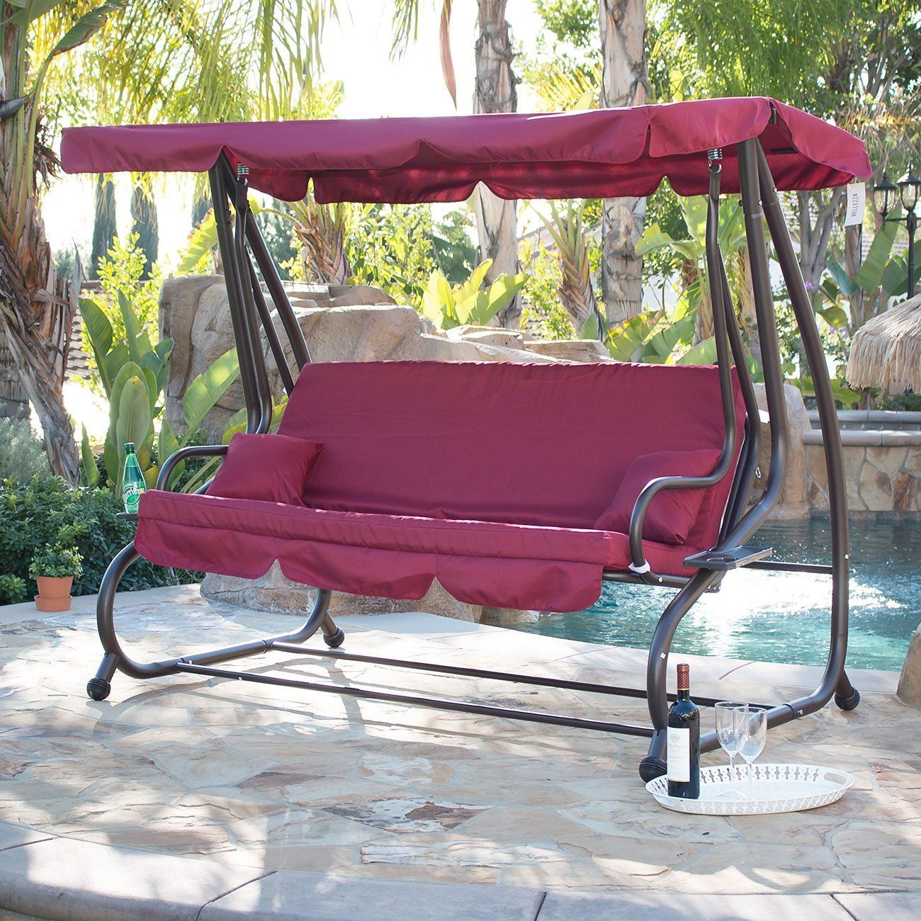Robot Check Porch Swing With Stand Porch Swing Outdoor Bed Swing