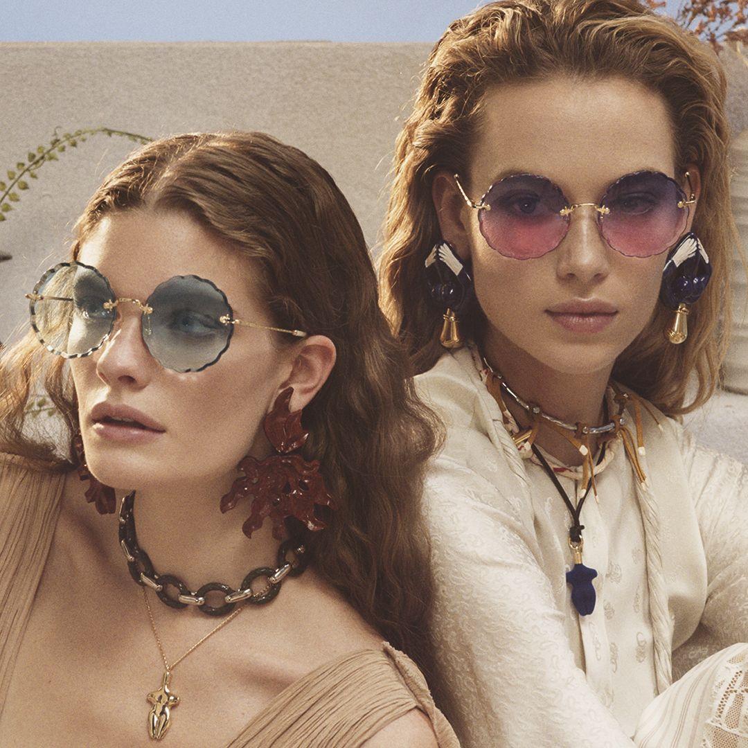 Chloe Eyewear Ss19 Ad Campaign Style Ce142s Trending Sunglasses Latest Sunglasses Beautiful Sunglasses
