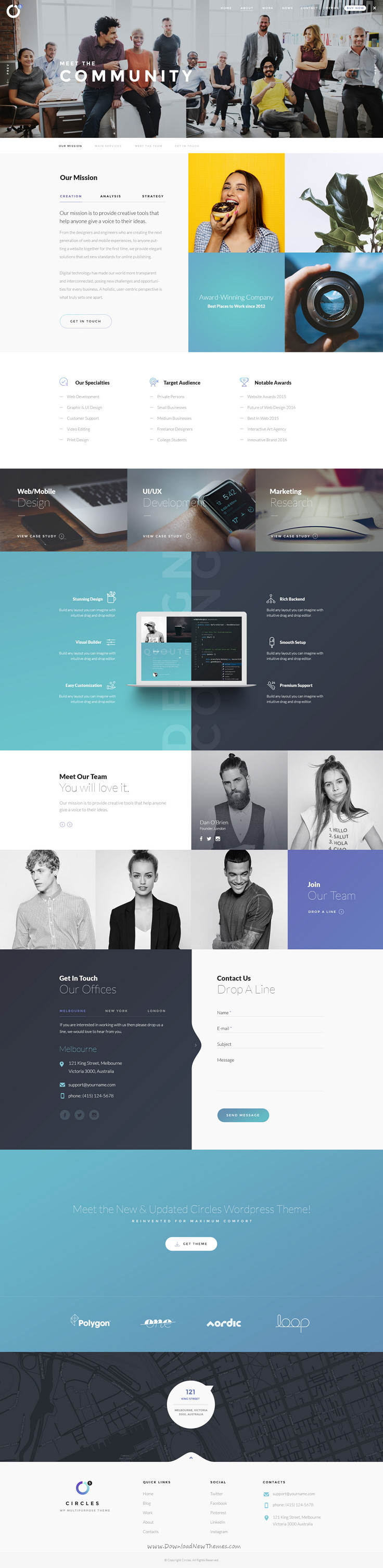 Circles 5 Is A Minimal And Perfect Grid Design Psd Template For Multipurpose Creative Website To Live Preview Referencia De Design Web Design Design De Logos