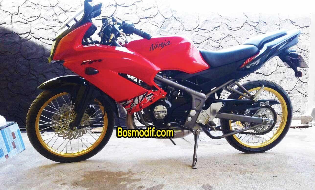 Modifikasi Motor Kawasaki Ninja R Rr Warna Jari Jari Merah Kawasaki Ninja Ninja Motor Kawasaki