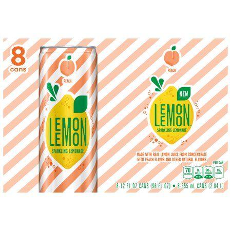 Lemon Lemon Peach Sparkling Lemonade, 12 Fl. Oz., 8 Count - Walmart.com