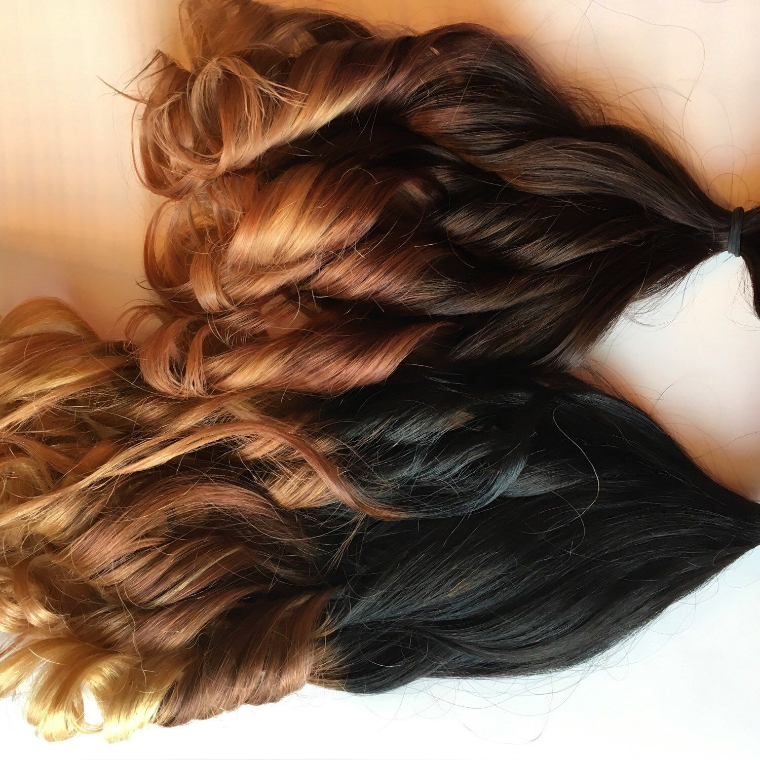 Custom Clip In Ombr Human Hair Extensions Ombre Clip Fade Clip In