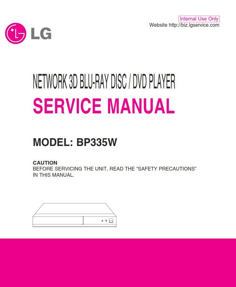 Troubleshooting Guide For All Boards: LG BP335W 3D Blu Ray Player Original Service, Repair And