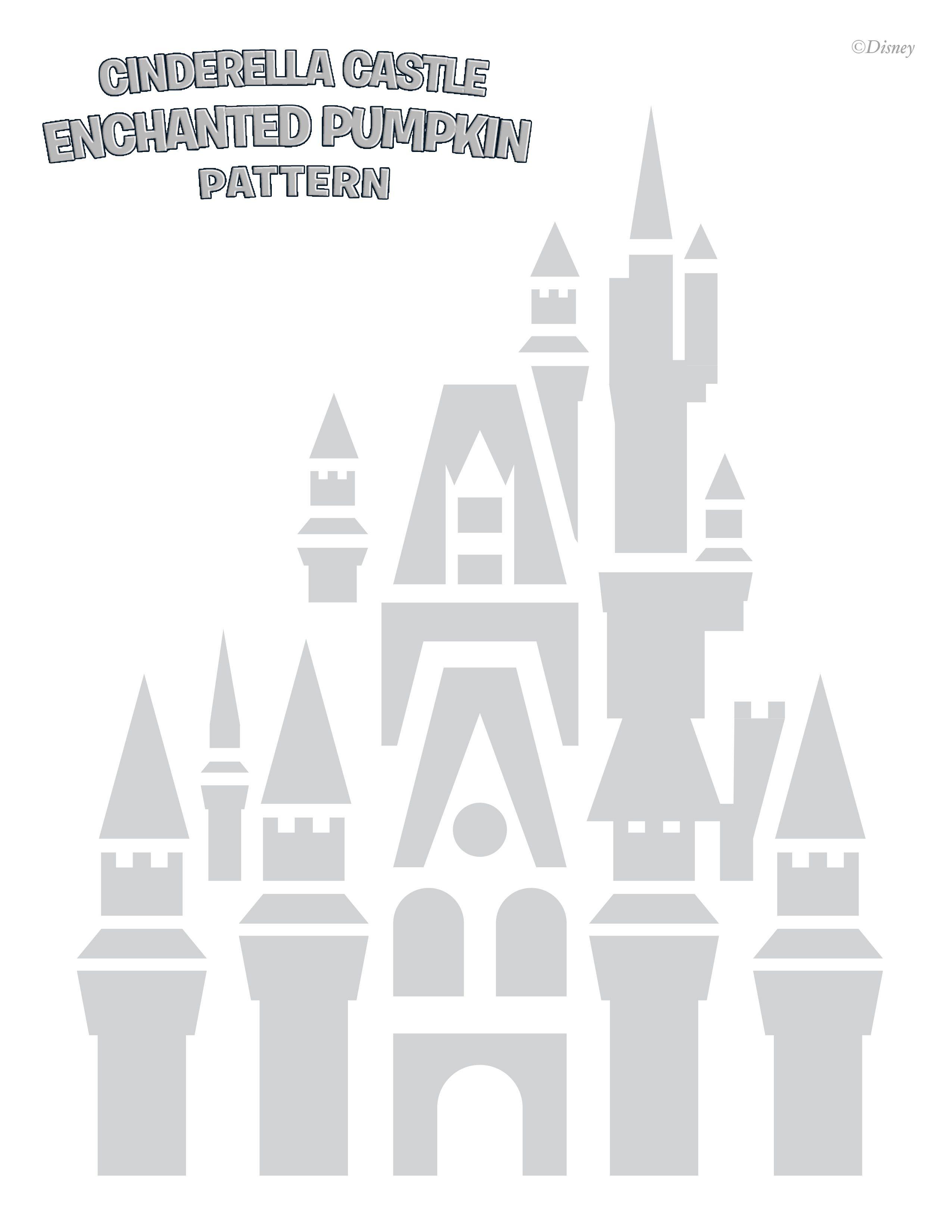 CinderellaCastle-Pumpkin-Stencil.jpg 2,550×3,300 pixels | Freezer ...