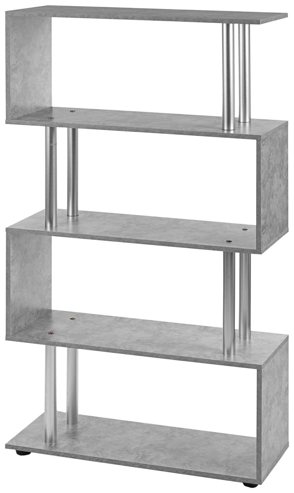 Ts Ideen Design Raumteiler Regal Wand Hochregal Standregal B Cherregal Holz Grau Betonoptik In 2020 Raumteiler Regal Raumteiler Betonoptik