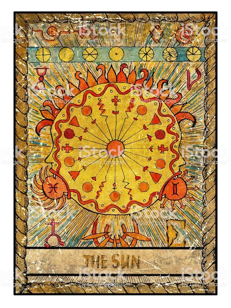 19 the sun the sun tarot vintage tarot the sun tarot card