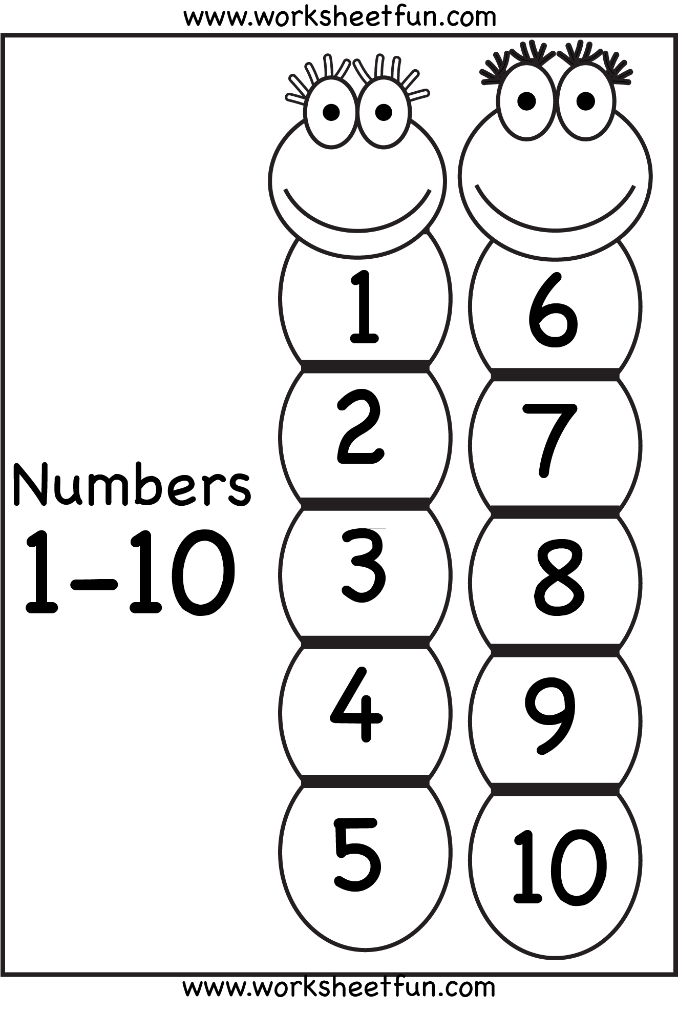 Number Chart 1 10