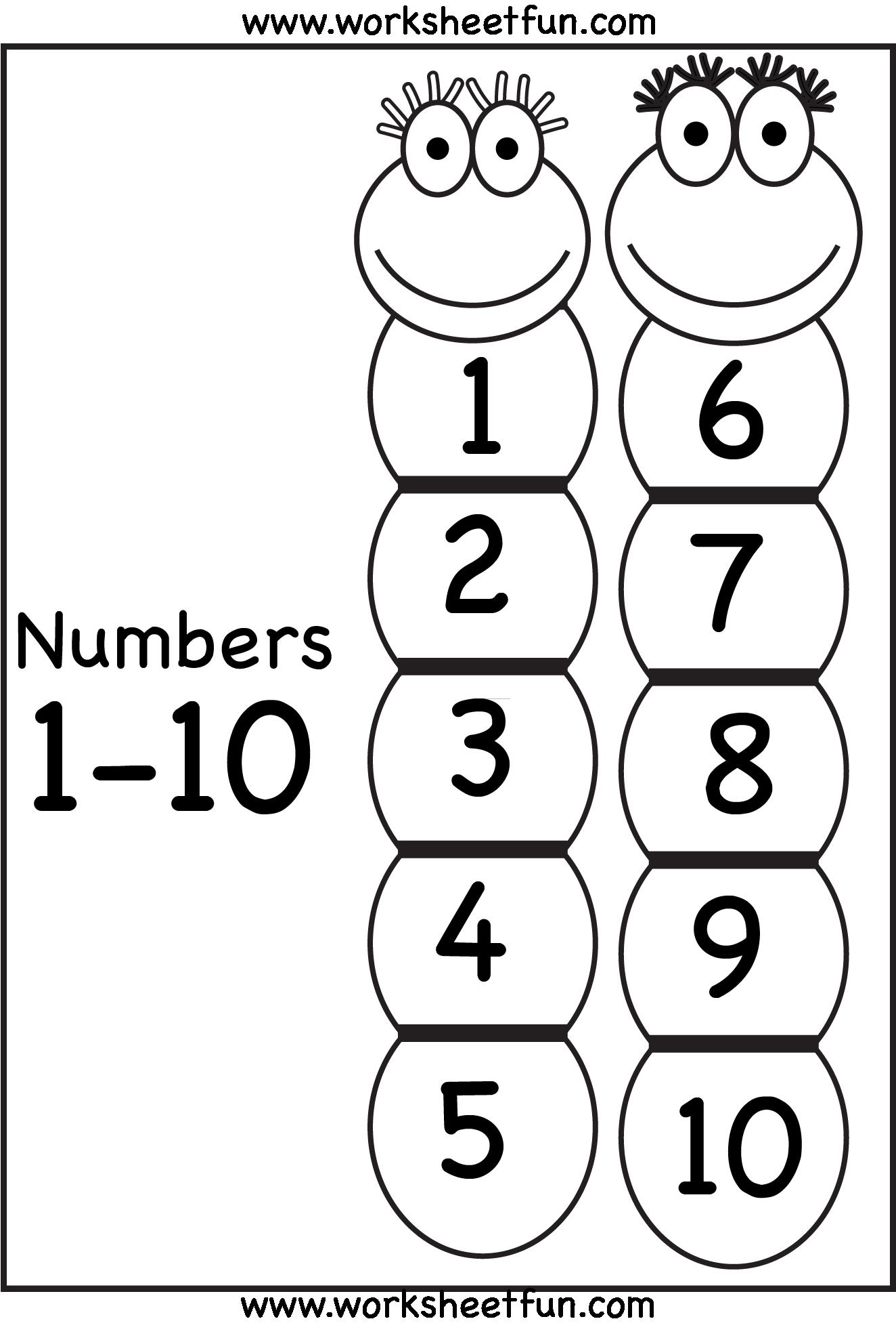 Number Tracing Dinosaurs preschool, Free preschool