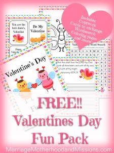 Valentines Day Fun Pack FREEBIE