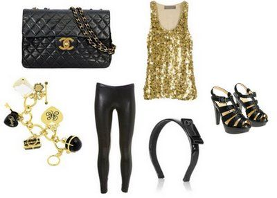 Black Gold Themed Outfit Fashion Themed Outfits Style