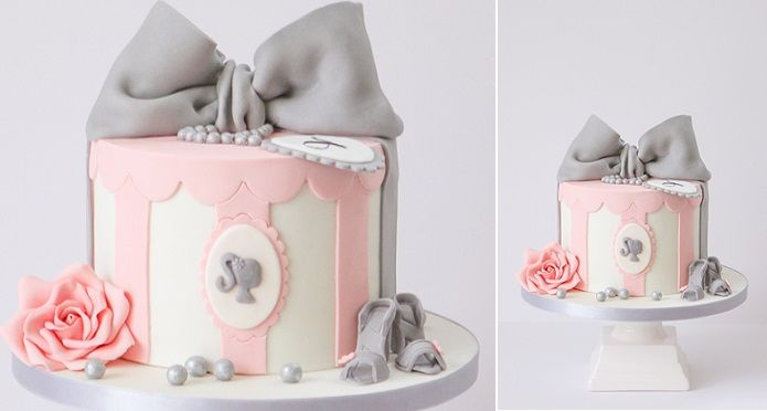 vintage hatbox cake with cameo by Pasteles Alma, Germany