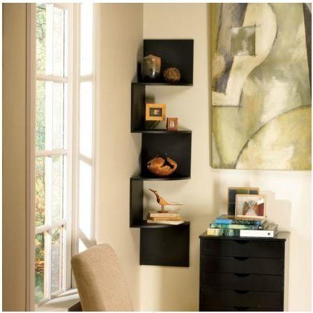 Corner Shelves Eliminate Dead Space | Corner shelf, Corner and Shelves