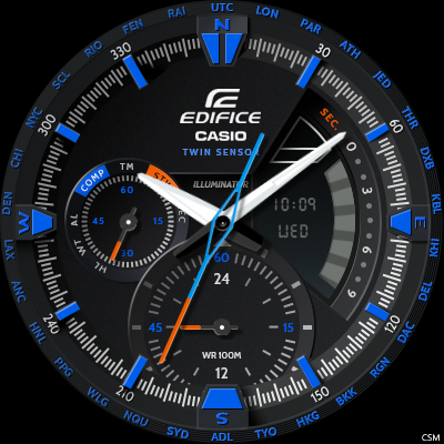 [Download] Casio EDIFICE ERA300DB BLUE Watch Face for