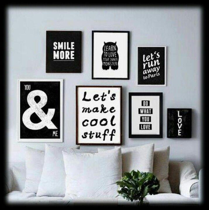 Black + White deco idea...love!