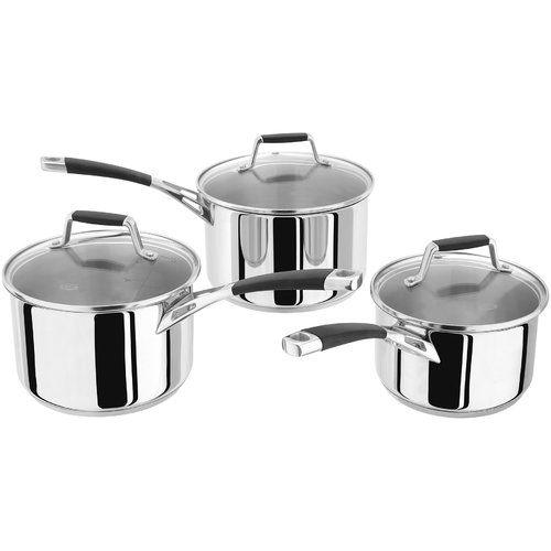 Stellar Induction 3 Piece Non Stick Cookware Set Cookware Set