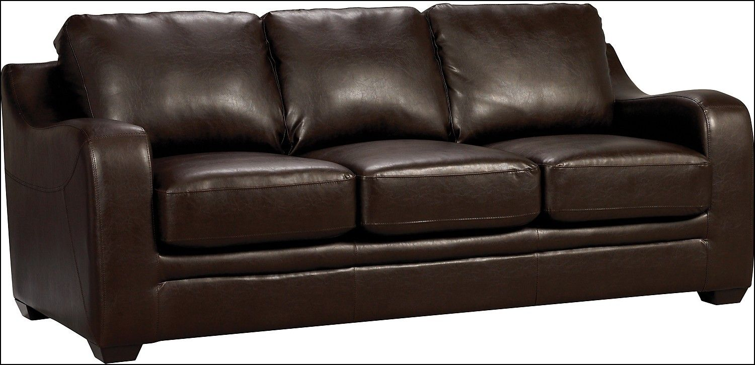 Vegan Leather Sofa Imitation Leather Couch Modern Faux