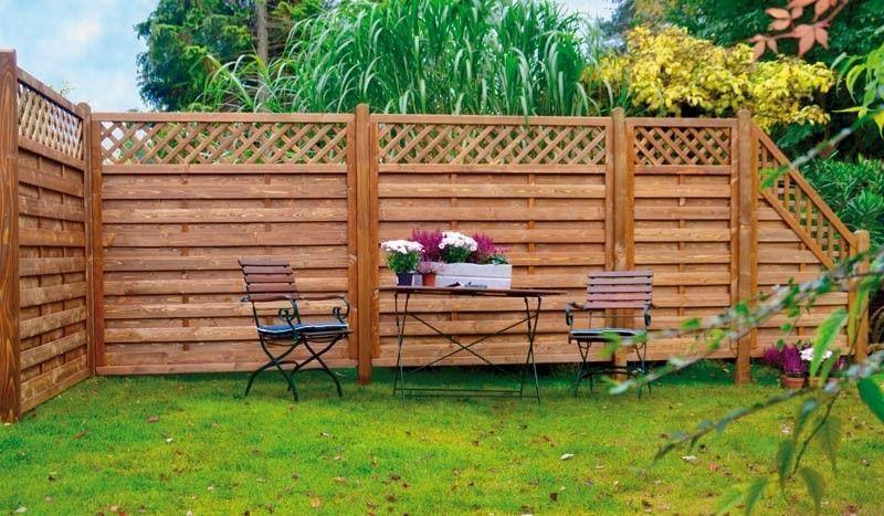 Der Sicht  und Windschutz der Rhönserie in der Praxis   Holzzaun, Windschutz, Garten kaufen