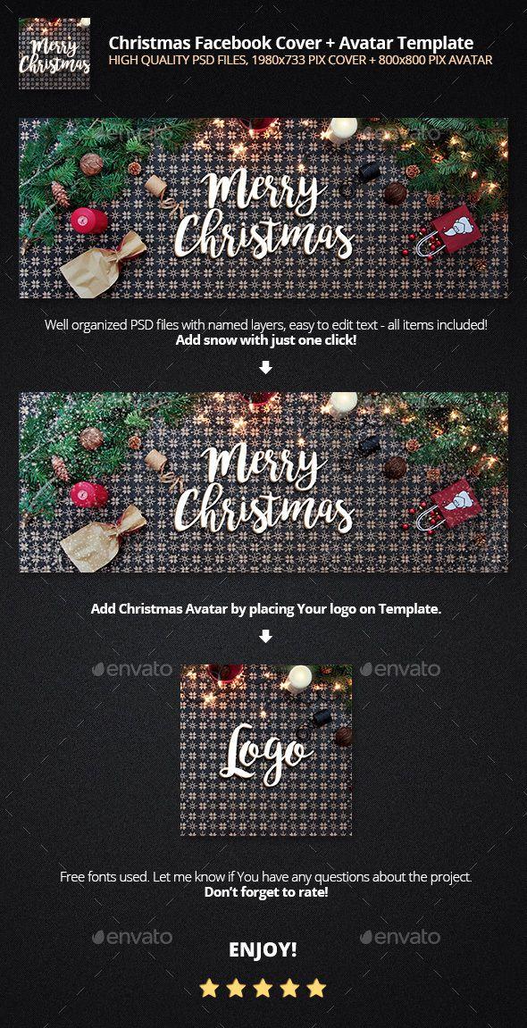 Christmas Facebook Cover + Avatar Template | Facebook Timeline ...