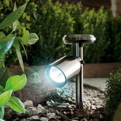Black Nickel Solar Garden Spot Light Solar Spot Lights Outdoor Solar Lights Garden Solar Powered Garden Lights