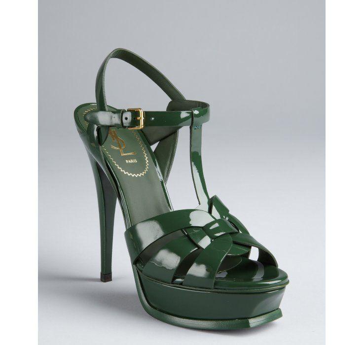 Tribute sandals - Green Saint Laurent Oc7Ct
