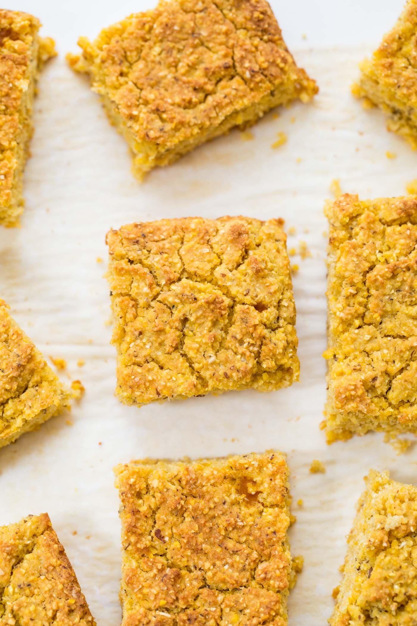 vegan pumpkin cornbread!  http://www.simplyquinoa.com/one-bowl-vegan-pumpkin-cornbread/