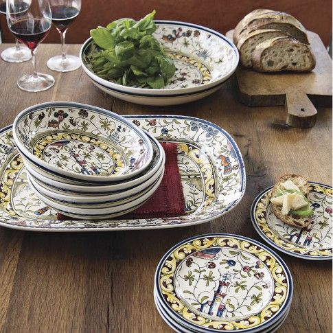 Williams Sonoma has this beautiful set of Portuguese dishes but they are hand wash only and there are no dinner plates. & Williams Sonoma has this beautiful set of Portuguese dishes but ...