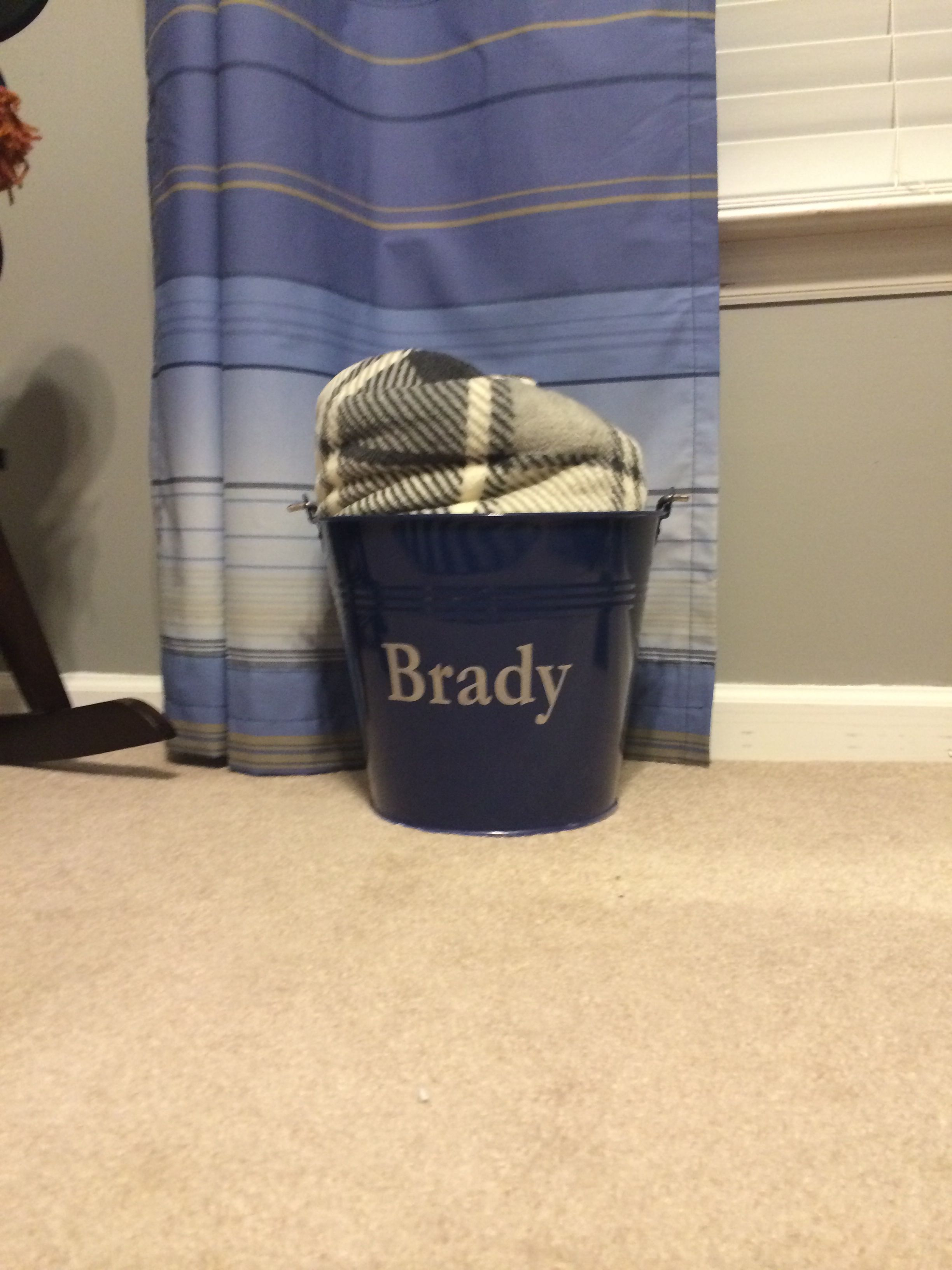 Pottery Barn bucket and Dollar General blanket.   Nautical Baby\'s ...