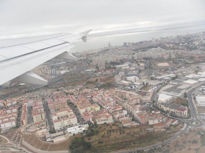 Vista aérea de Lisboa.Verão de 2010.
