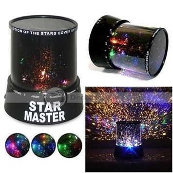 LED Sky Star Cosmos Master Planet Projector Night Light Lamp (3*AAA) $10 2 Dino Direct