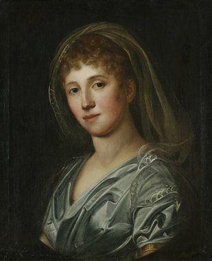 Bildnis einer jungen Dame aus westfälischem Adel. Um 1800