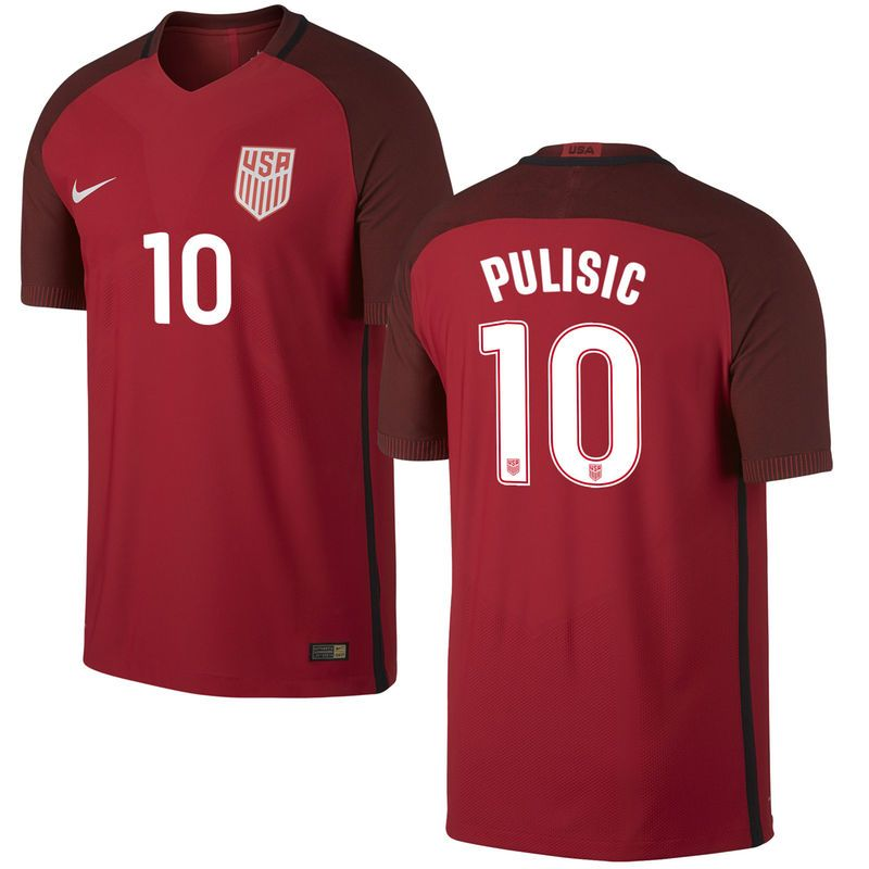 16af38c9be2 Christian Pulisic US Soccer Nike 2017 Third Vapor Match Authentic Jersey -  Red